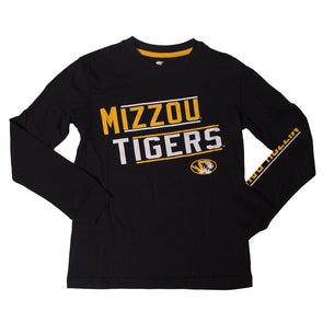 Mizzou Tigers Kids' Black Crew Neck Shirt