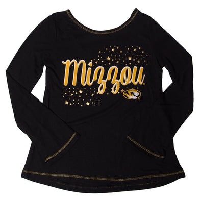 Mizzou Kids' Black Criss-Cross Back Shirt
