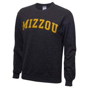 Mizzou Black Crew Neck Sweatshirt