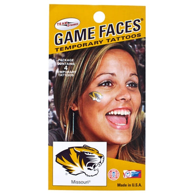 Mizzou Oval Tiger Head Tattoo