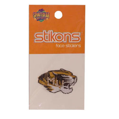 MU Tiger Head Rhinestone Tattoo