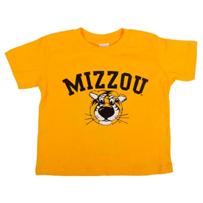 Mizzou Toddler Truman Gold Short Sleeve Crew Neck T-Shirt
