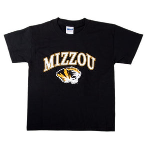 Mizzou Kids' Tiger Head Black Short Sleeve Crew Neck T-Shirt