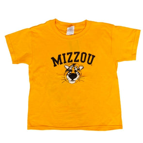 Mizzou Kids' Truman Gold Short Sleeve Crew Neck T-Shirt