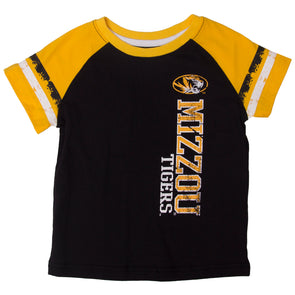 Mizzou Tigers Toddler Black & Gold Crew Neck T-Shirt