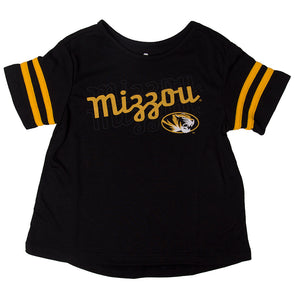 Mizzou Toddler Oval Tiger Head Black Crew Neck T-Shirt