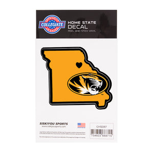 Mizzou Home State Oval Tiger Head Vinyl Decal