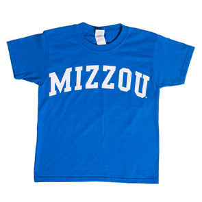 Mizzou Kids' Neon Blue Crew Neck T-Shirt
