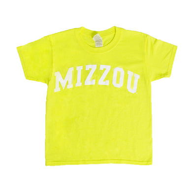 Mizzou Kids' Neon Yellow Crew Neck T-Shirt