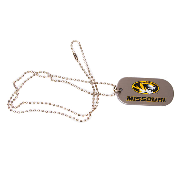 "Missouri Oval Tiger Head Logo 24"" Dogtag Necklace"
