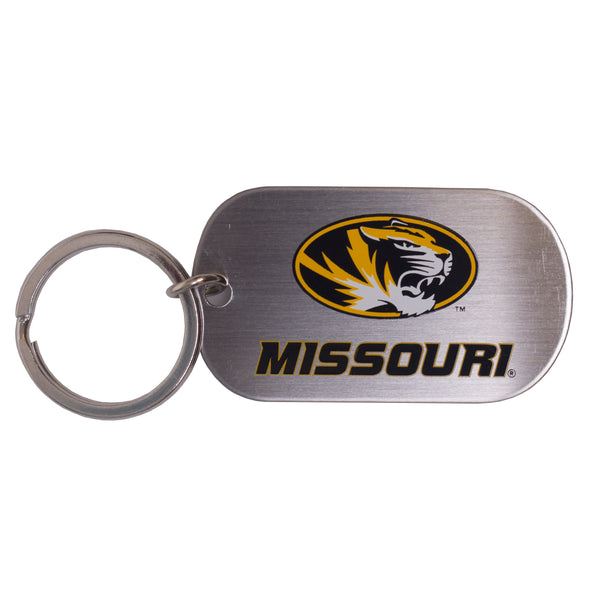 Missouri Oval Tiger Head Logo Dogtag Key Chain