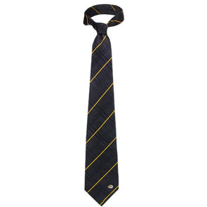 Mizzou Tiger Head Black Woven Silk Tie