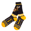 Mizzou Raindeer Sweater Black and Gold Socks