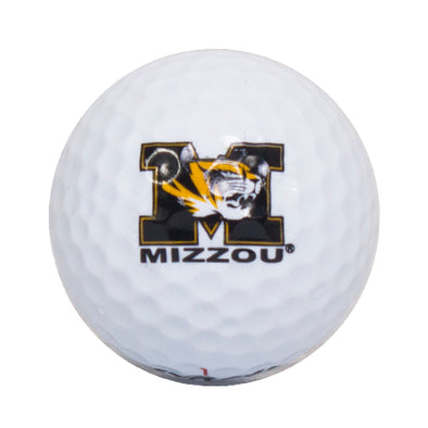 Mizzou M Tiger Head Golf Ball