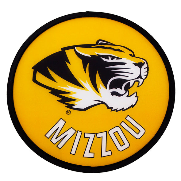 Mizzou Tiger Head Black and Gold Pop Up Fan
