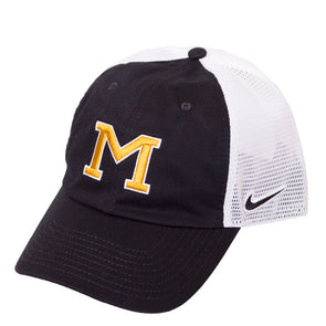 Mizzou Nike® 2020 Block M Black and White Trucker Hat
