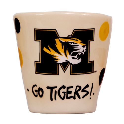Mizzou Go Tigers Wobbly White Ceramic Mug