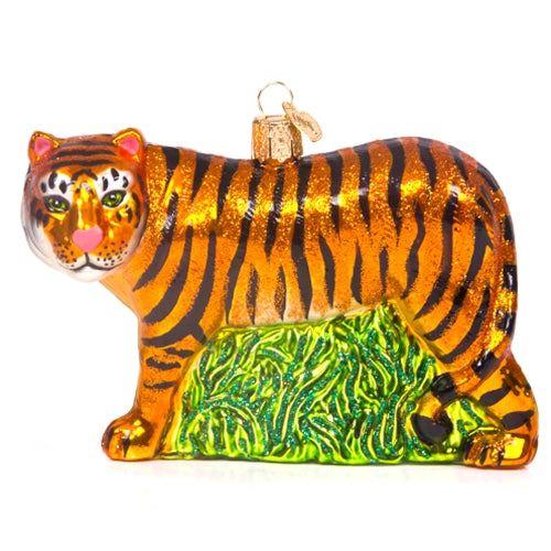 Missouri Tiger Glass Ornament