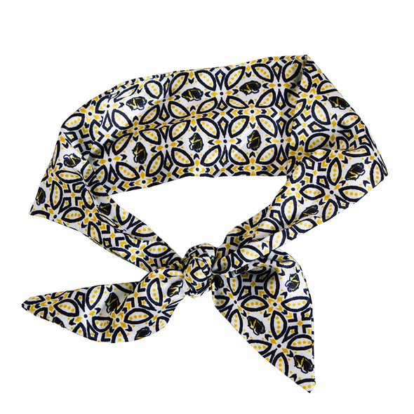 Mizzou Tiger Head  Black and Gold Neck Tie Scarf