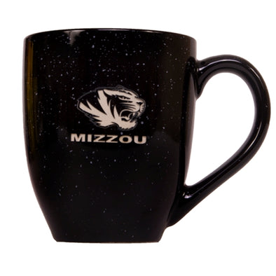 Mizzou Etched Tiger Black Bistro Speckled Mug