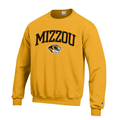 Mizzou Tiger Head Gold Sweatshirt