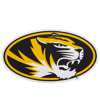 Mizzou Oval Tiger Head Car Magnet