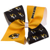 Mizzou Tiger Head Black and Gold Hair Bow