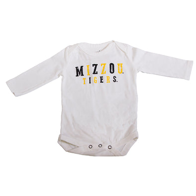 Mizzou Tigers Infant White Long Sleeve Onesie