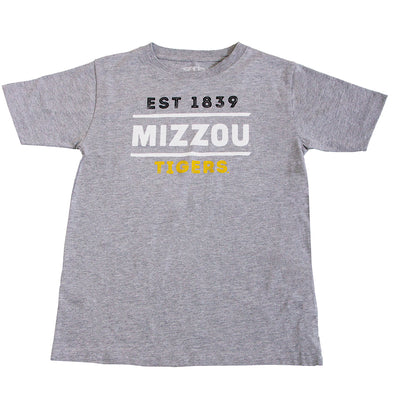 Mizzou Tigers Est 1839 Youth Grey T-Shirt