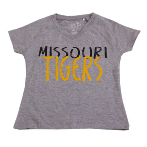Missouri Tigers Youth Grey V-Neck Shirt