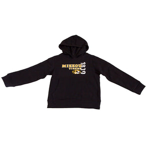 Mizzou Tigers Oval Tiger Head 1839 Youth Black Hoodie