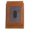 Mizzou Oval Tiger Head Engraved Front Fold Brown Wallet