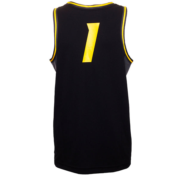Mizzou #1 Nike® Black and Gold Basketball Jersey