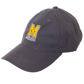 Mizzou Block M Charcoal Grey Adjustable Hat