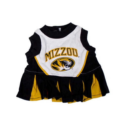 Mizzou Tiger Head Pet Cheerleader Dress