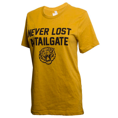 Never Lost a Tailgate Tiger Gold T-Shirt