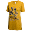 I'm With the Tiger Gold T-Shirt