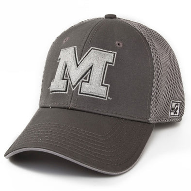 Mizzou Grey Stretch-Fit Hat