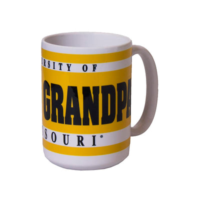 University of Missouri Grandpa Oval Tiger Head Black and Gold Mug