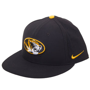 Mizzou Nike® 2020 On the Field Fitted Replica Black Baseball Oval Tiger Head Hat