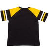 Mizzou Tigers Oval Tiger Head Toddler Black and Gold Striped T-Shirt
