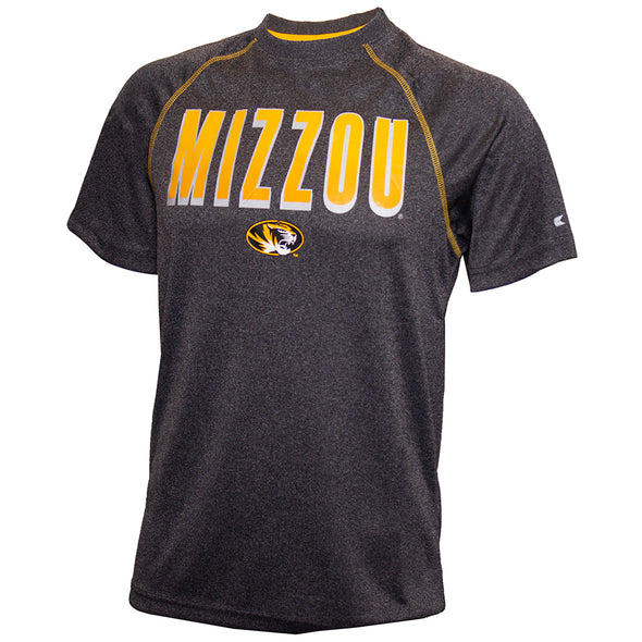 Mizzou Oval Tiger Head Heather Grey T-Shirt