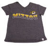 Mizzou Oval Tiger Head Youth Heather Grey T-Shirt
