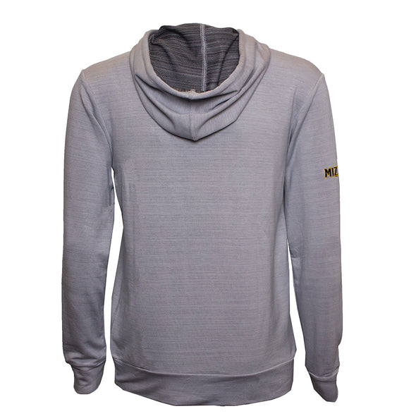 Mizzou Oval Tiger Head Grey Pullover Hoodie