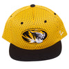 Mizzou Oval Tiger Head Youth Black and Gold Adjustable Flat Bill Hat