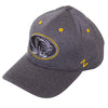 Mizzou Oval Tiger Head Heather Charcoal Grey Stretch Fit Hat