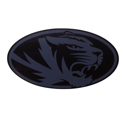 Mizzou Oval Tiger Head Blackout Black and Charcoal Grey Decal