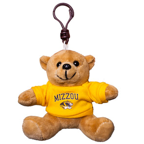 "Mizzou Tiger Head 4"" T-Shirt Bear Keychain"