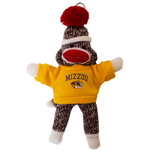 "Mizzou Tiger Head 4"" Sock Monkey Keychain"