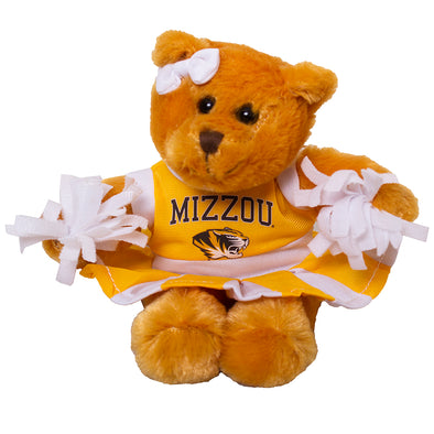 "Mizzou Tiger Head 8"" Cheerleader Bear"